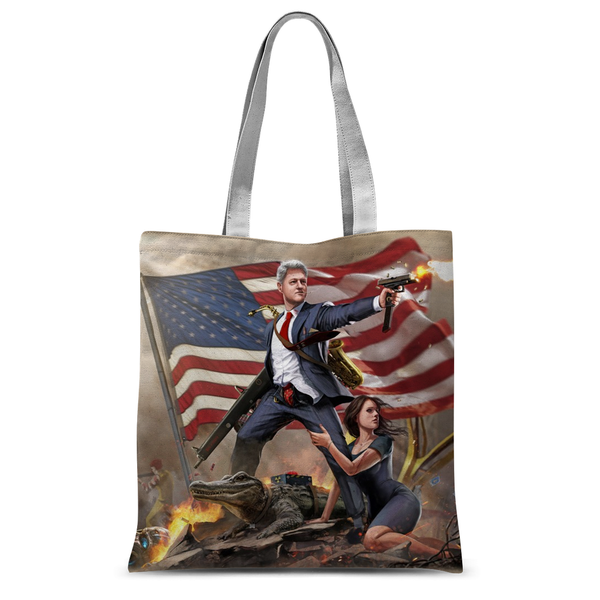 Bill Clinton - Slayer in Chief Tote Bag - trendninjas