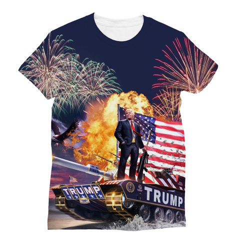 Donald Trump - Gold Plated Sublimation Unisex T-Shirt - trendninjas