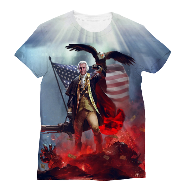 George Washington Sublimation Unisex T-Shirt - trendninjas