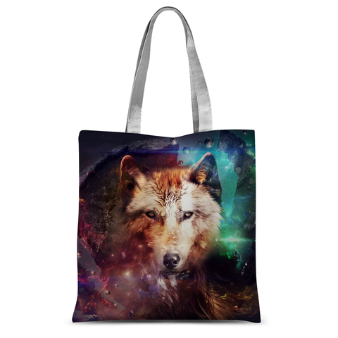 Abstract Wolf Design Tote Bag