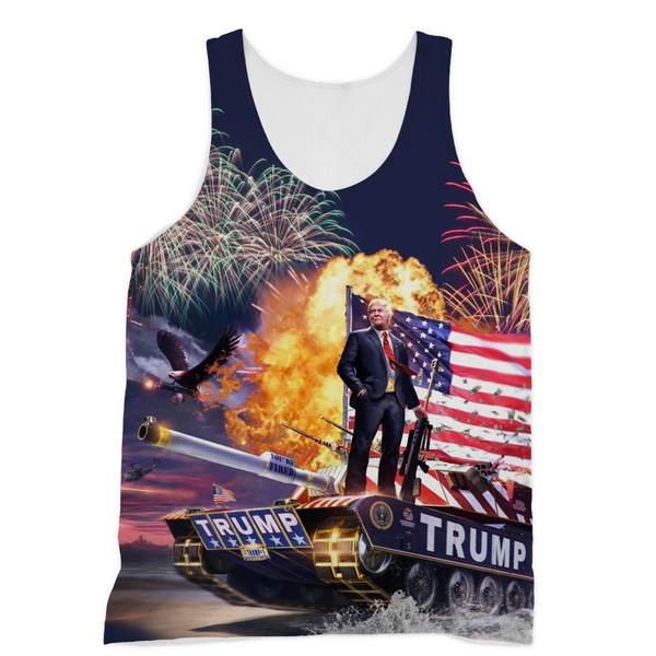 Donald Trump - Gold Plated Sublimation Unisex Tank - trendninjas