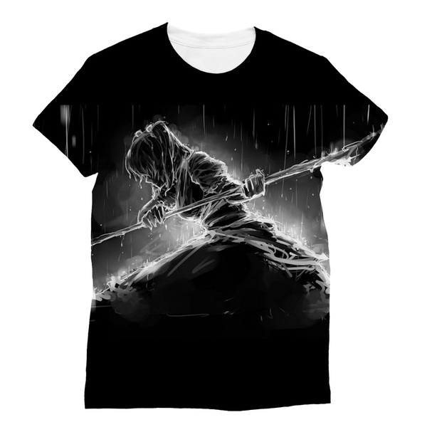 Black Death Sublimation T-Shirt - trendninjas