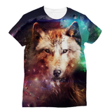 Abstract Wolf Design Sublimation T-Shirt - trendninjas
