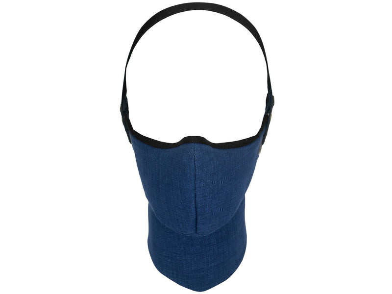 Navy Linen Pollution Mask