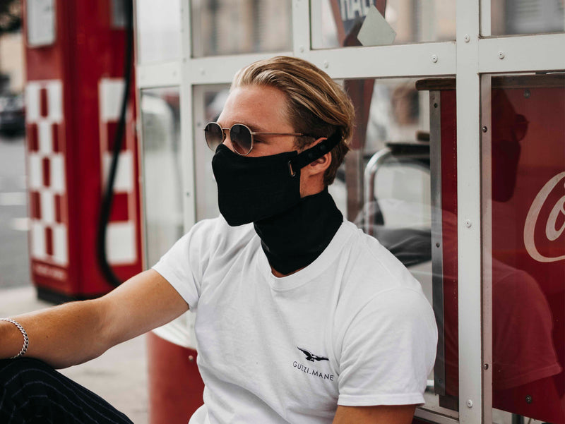 Black Linen Pollution Mask