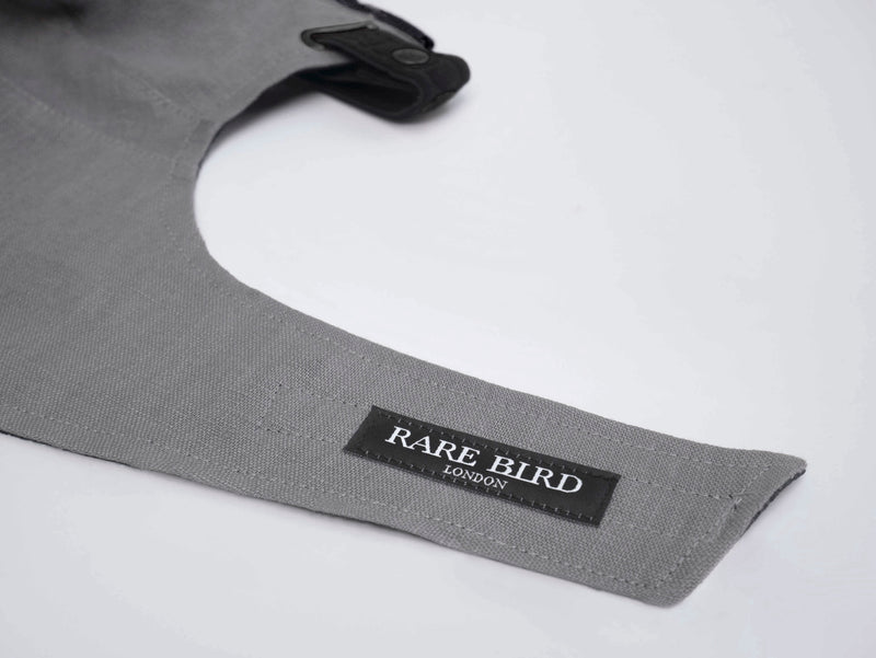 Grey Linen Pollution Mask