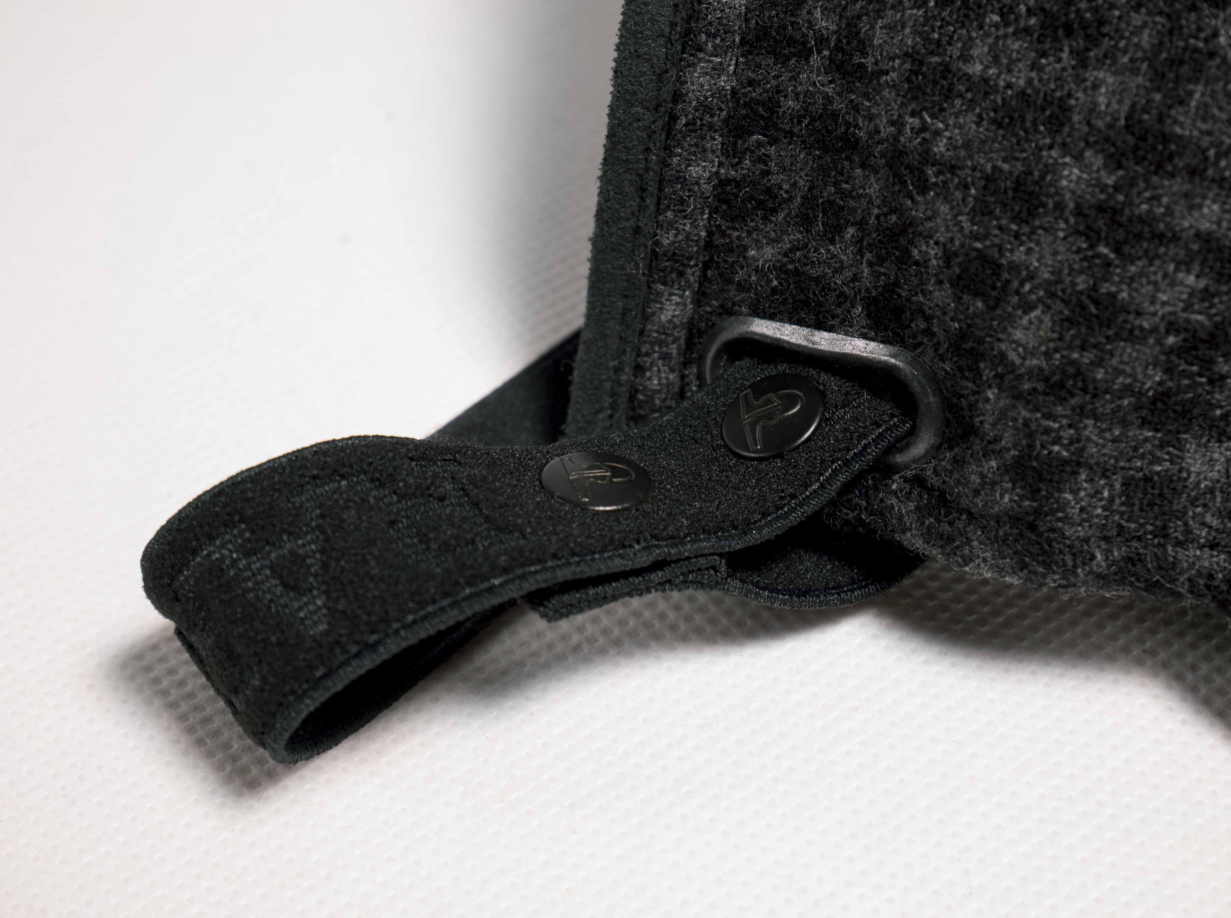 Black & Grey Check  Wool Mask