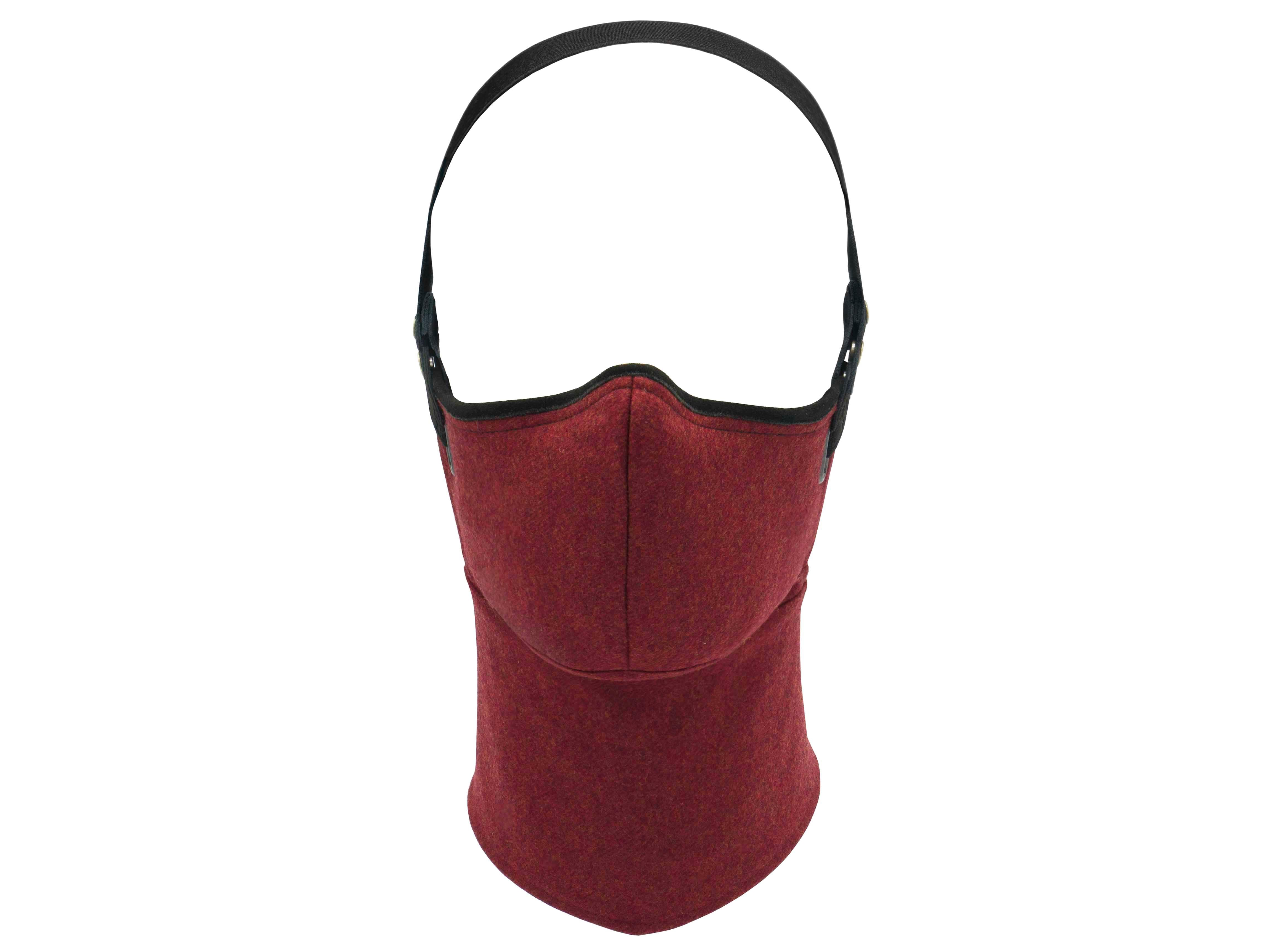 Red Wool Pollution Mask
