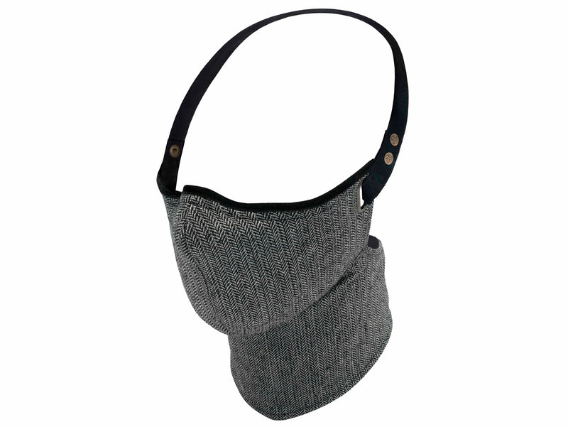 Silver Hue Herringbone Pollution Mask