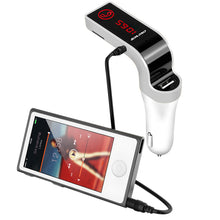 4-in-1 Hands Free Wireless Bluetooth FM Transmitter + AUX Modulator Car Kit