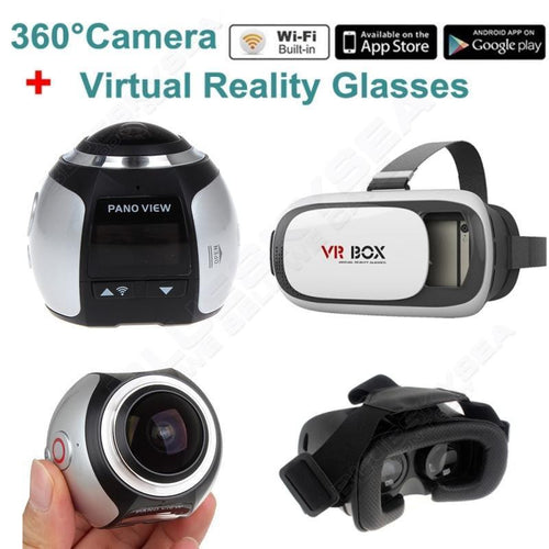 360 Degree Wifi Panoramic Camera Sport Action VR Camera VR Glasses