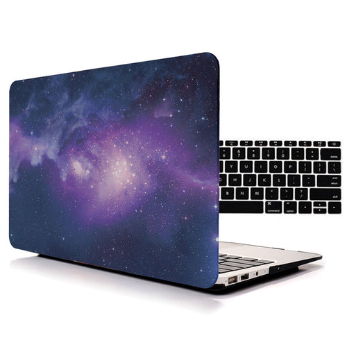 Galaxy Texture Matte Frosted Shell Case for Macbook Air Pro Retina Laptop Bag Cases