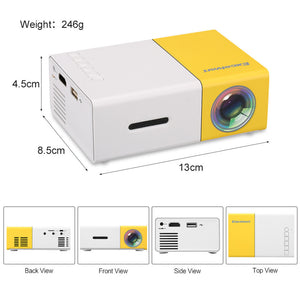 LCD Projector Mini Portable 320x 240 Pixels Media Player Home Projector