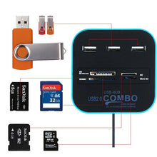 USB Hub Combo All In One Multi-card Reader with 3 Ports