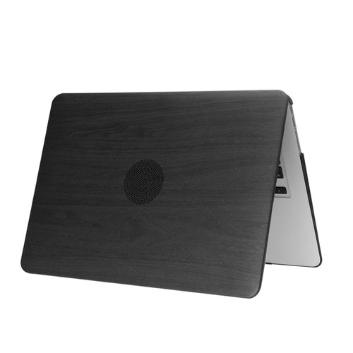 WOOD GRAIN PU Leather Laptop Cases for apple MacBook Air Pro Retina + keyboard cover black