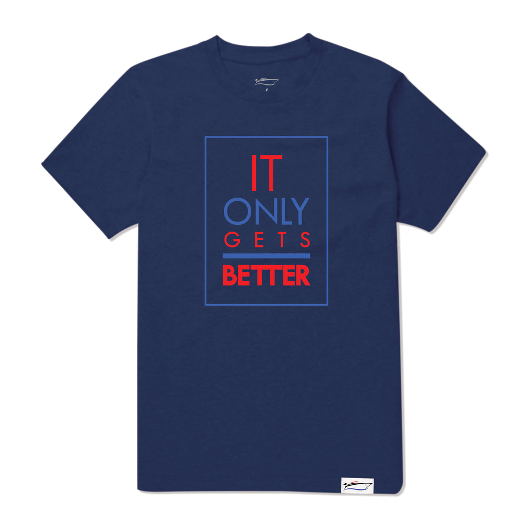 Harbor Blue It Only Gets Better Tee