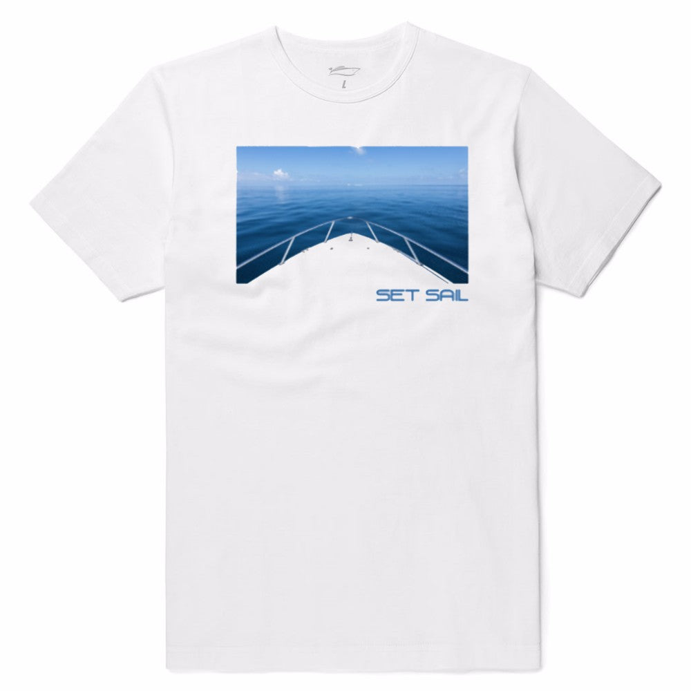 White Blue Horizon Tee