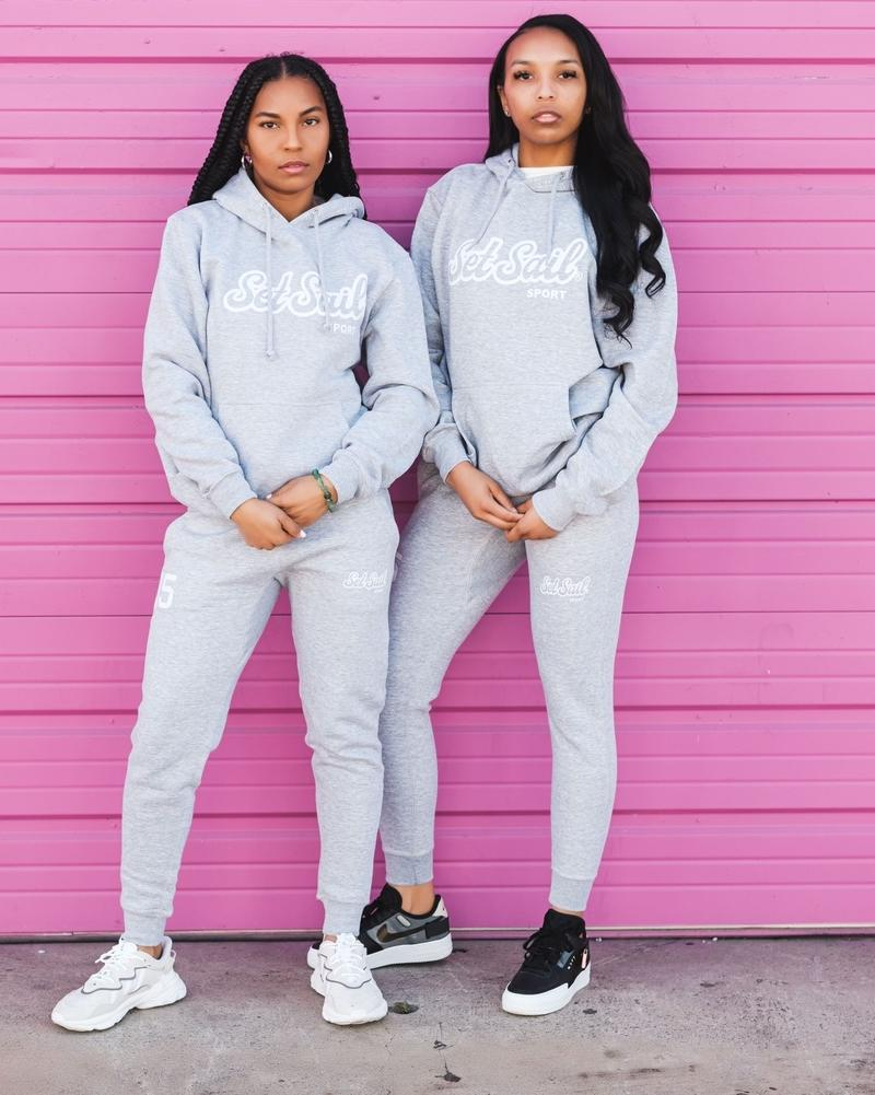 """Live the Life"" Gray Lifestyle Hoodie (Unisex) - SET SAIL APPAREL"