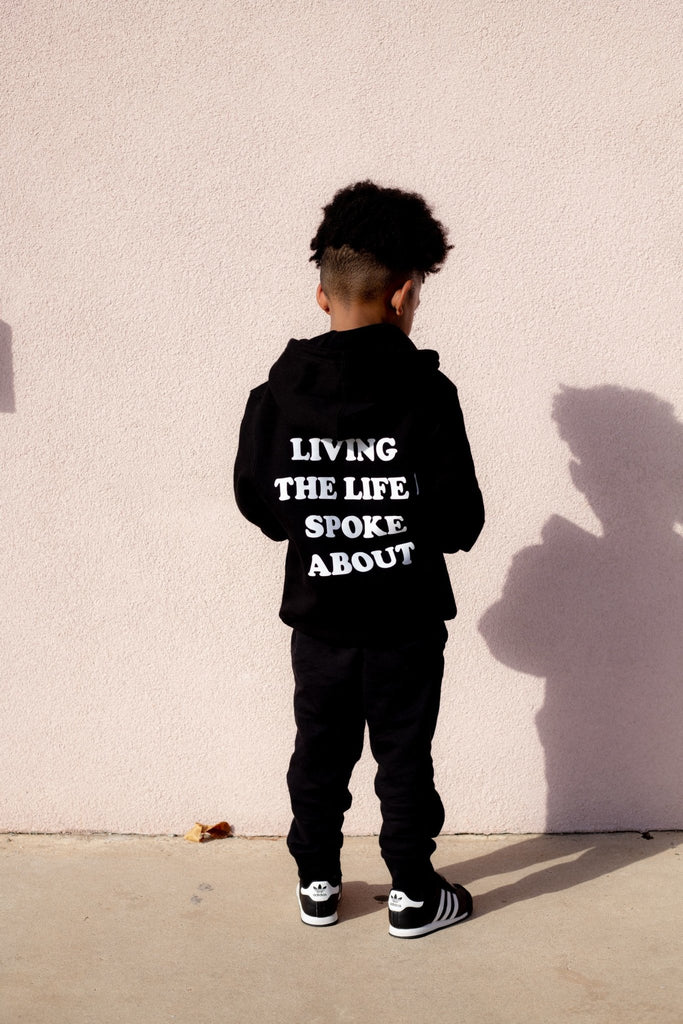 """Live the Life"" Youth Black Hoodie - SET SAIL APPAREL"