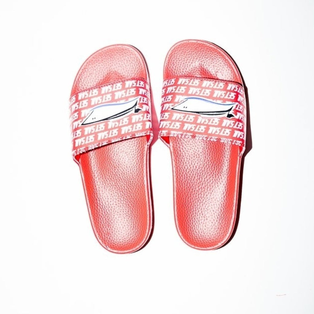 Red Set Sail Slides - SET SAIL APPAREL