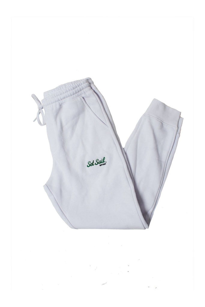 Set Sail Sport White Drawstring Joggers - SET SAIL APPAREL