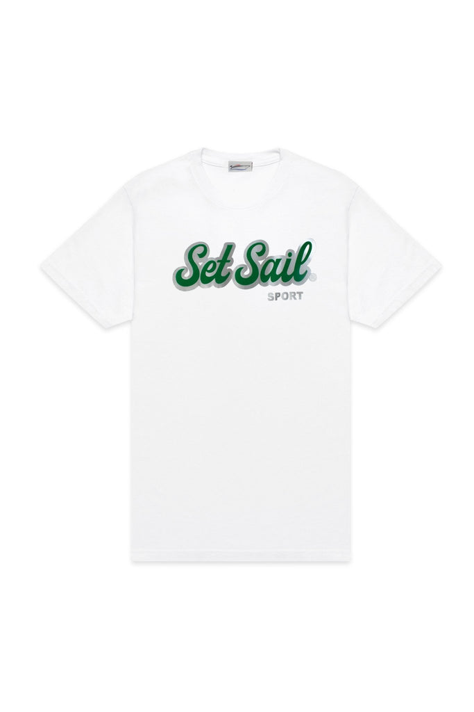 Set Sail Sport White Tee - SET SAIL APPAREL