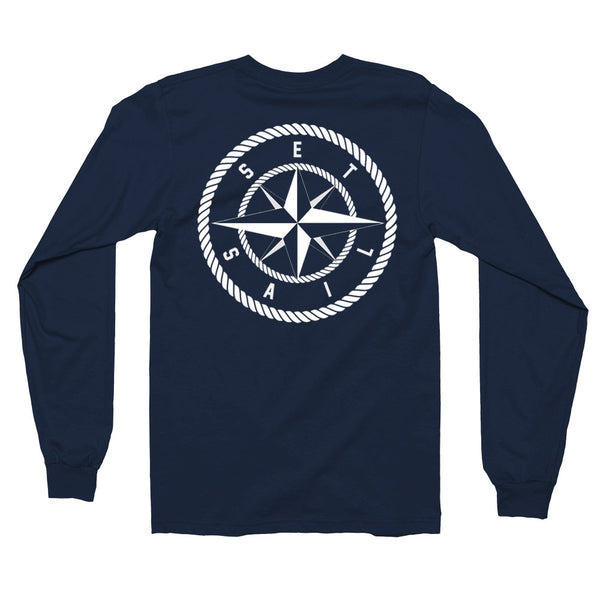 Navy Blue Compass Long Sleeve