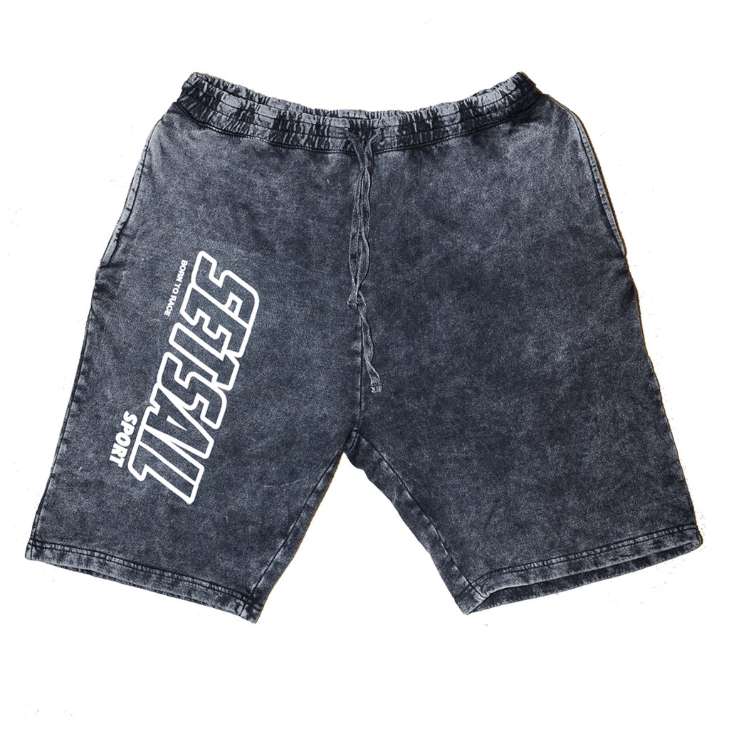 Vintage Black Logo Branded Shorts - SET SAIL APPAREL