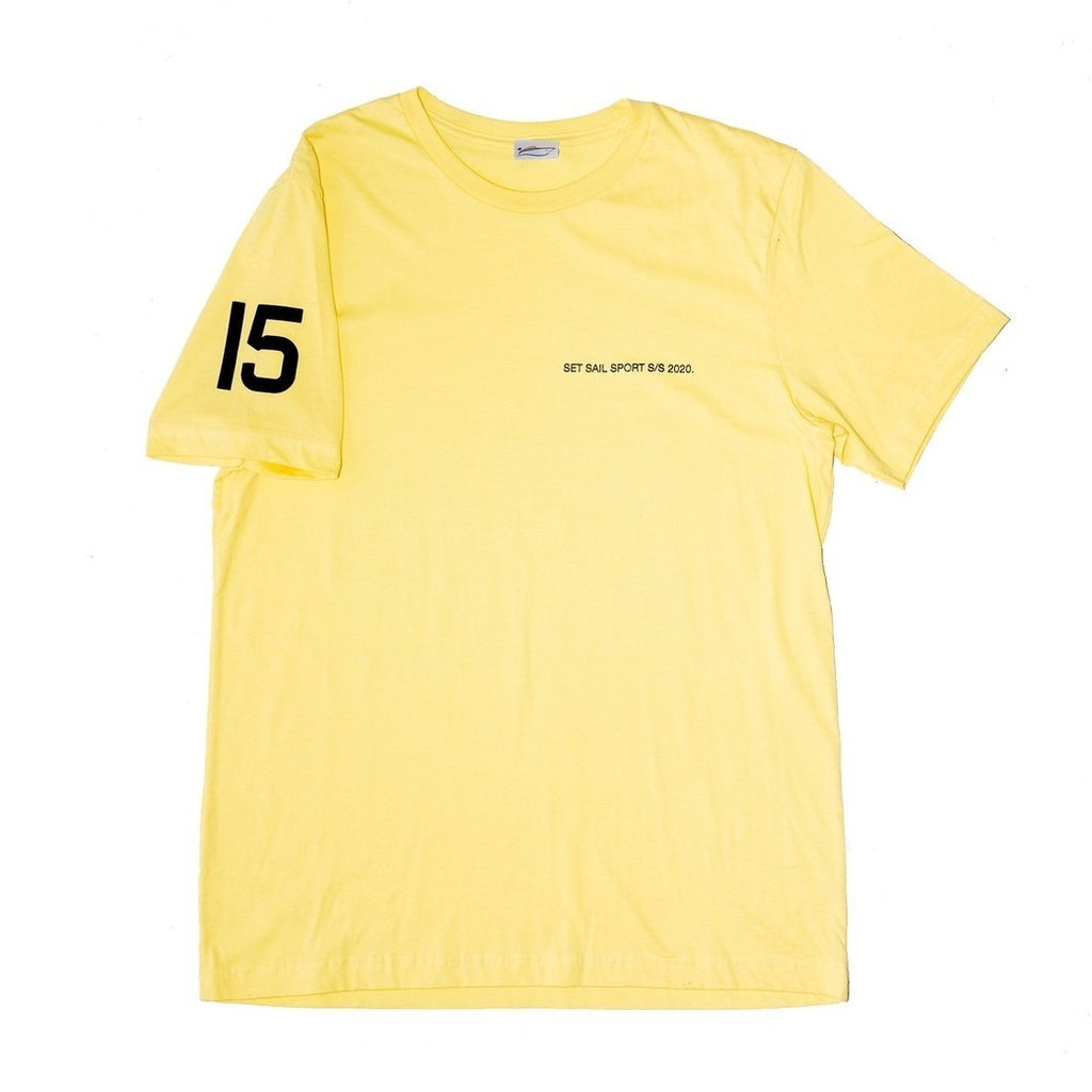 Yellow Diagram Tee - SET SAIL APPAREL