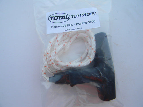 TLB15120R1 STARTER HANDLE WITH ROPE : STIHL 038, 050, 051, 064, 066, MS660 Fits many Stihl Models with Elasto Grip Handle. 4.5mm dia. rope / 36