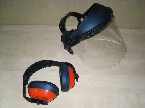 TM5120916 Tecomec Brushcutter Protective SAFETY COMBO SYSTEM Ear Muffs Clear Face Shield