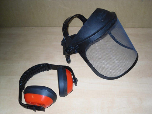 TM5120915 Tecomec Brushcutter Protective SAFETY COMBO SYSTEM Ear Muffs Steel Face Screen