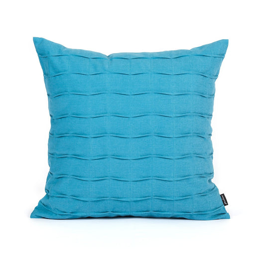 Aqua Blue Hand Crafted Pintuck Accent Throw Pillow Cover