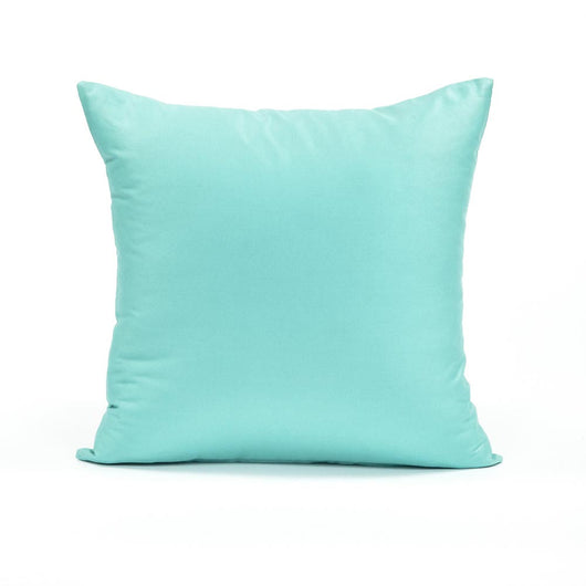 Solid Powder Blue Throw Pillow Cover