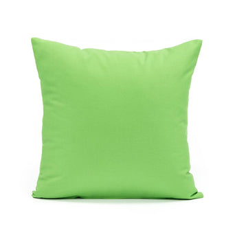 Solid Chartreuse Throw Pillow Cover