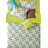 "20"" X 54"" Green, Brown, Powder Blue Triangle Pattern Body Pillow Cover"