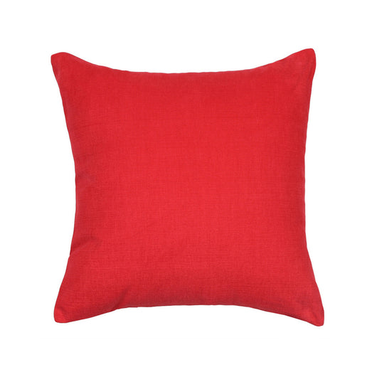 Solid Red Accent Throw Pillow Cover