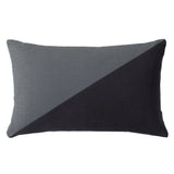 Duo Charcoal Gray Throw Pillow Cover