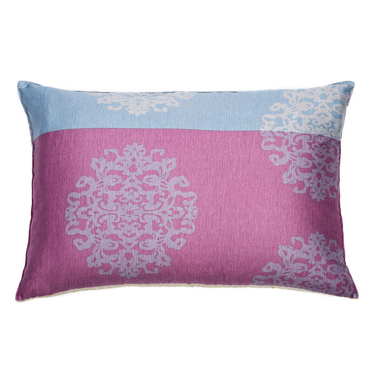 Lavender & Pastel Sky Blue Damask Sham Pillow Case