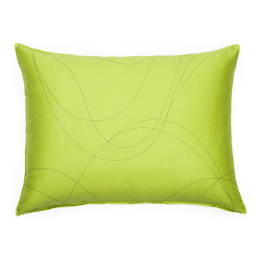 Lime Yellow & Taupe Swirl Sham Pillow Case