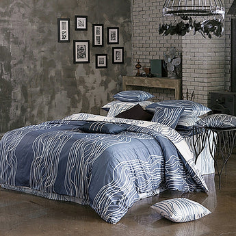 820TC Modern Navy & White Duvet Cover Set