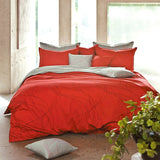 Modern Red & Gray Duvet Cover Set Teen Room