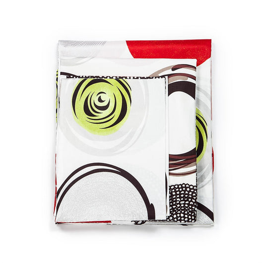 820TC Red & Lime Green Circle Pattern 4 PCS Sheet Set