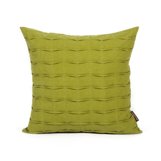 Olive Green Hand Crafted Pintuck Accent Pillow Cover