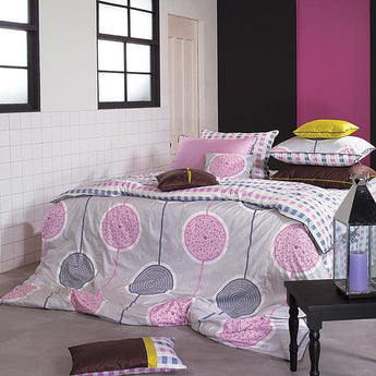 Pink & Lavender Circle Duvet Cover Set Girls Room