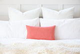 Solid Coral Peach Decorative Throw Pillow Cover