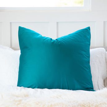 Sateen Solid Turquoise / Teal Blue throw Pillow Cover
