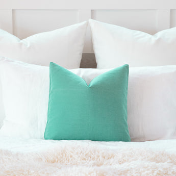 Seafoam Green Decorative Throw Pillow Cover