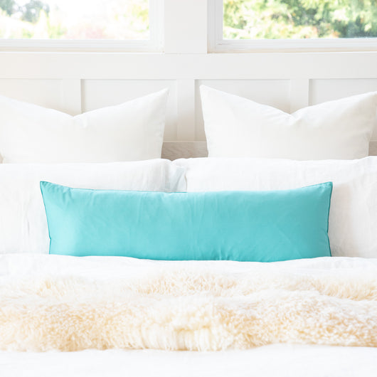 Solid Powder Blue Body Pillow Cover