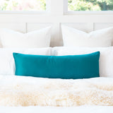 "Solid Soft Sateen Teal Turquoise Long Maternity Pregnancy Body Pillow Cover 14""x36""/20""x54"""